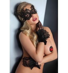 BLACK LACE GLOVES – MODEL 12
