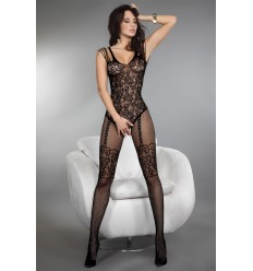TEMPERANCE BODYSTOCKING NOIR