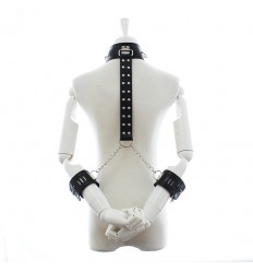 Leather Collar with Wrist Restraints