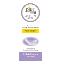 PJUR MED SENSITIVE GLIDE SAQUETA 2ML