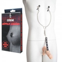 Nipple Clamps with Metal Cock Ring