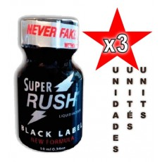 Super Rush Black Label 10ml - 3 unidades