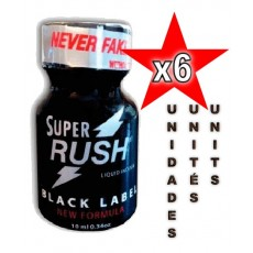 Super Rush Black Label 10ml - 6 unità
