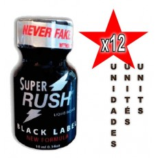 Super Rush Black Label 10ml - 12 unidades