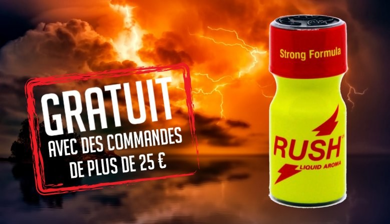 Cadeau gratuit Poppers Rush UK Strong Formula 10ml